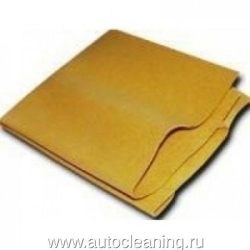 Замша искусственная желтая 40 х 55 см